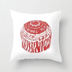 Tea Cake pen drawing (red) Throw Pillow
