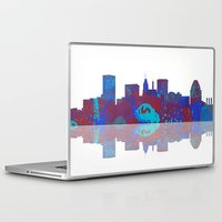 baltimore Laptop & iPad Skins featuring Baltimore Skyline by Marlene Watson