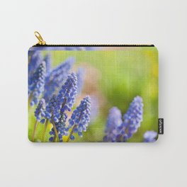 Blue Muscari Mill flowers close-up in the spring Carry-All Pouch