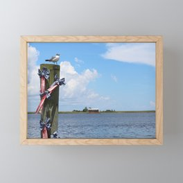 Pole Gull - Apalachicola, Florida Framed Mini Art Print