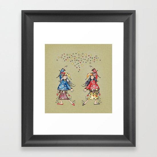 Lady Jokers Framed Art Print