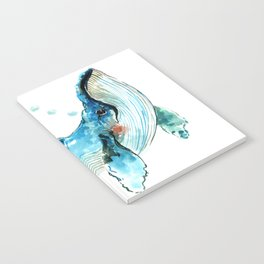 Humpback Whale Artwork Children Illustration Cute little Whale, whale design Notebook