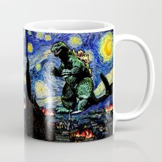 Godzilla versus Starry Night Mug