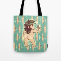 yaoi Tote Bags featuring BUTTS by kami dog