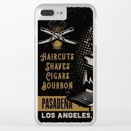 Gentlemen's Barber Shop LA Clear iPhone Case