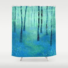 Bluebells, Challock Shower Curtain