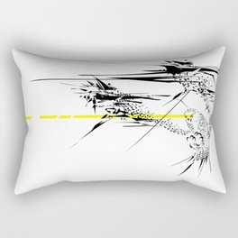 Holy Weapon // (Glitch Owl) Rectangular Pillow