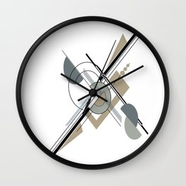 Modern Geometric 3 Wall Clock