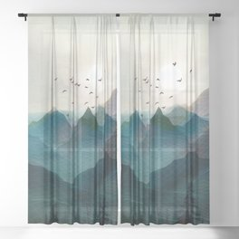 Mountain Sunrise II Sheer Curtain