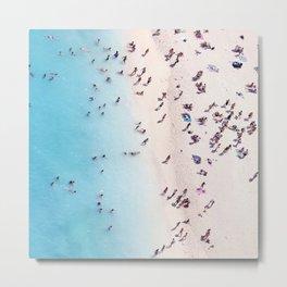 Aerial Ocean Beach View Metal Print