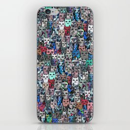 Gemstone Cats RGB iPhone Skin