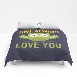 Owl Loves You Always Comforters