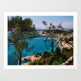 Port of Nice Through the Trees Art Print