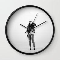 anonymous Wall Clocks featuring Anonymous by thirteesiks