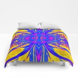 Blue & Golden Desert Mirage Abstract Comforters