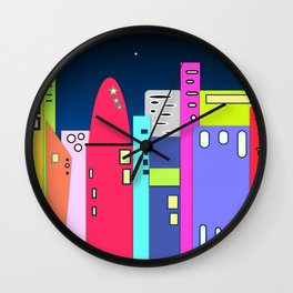 Space City Wall Clock