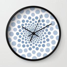 Blue Dot Spiral Wall Clock