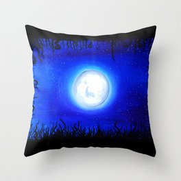 Hey moon. Throw Pillow