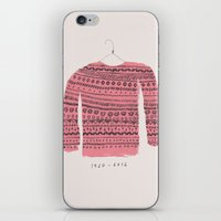 sweater iPhone & iPod Skins featuring Saco-Sweater by Alejandra Hernandez