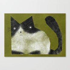 BRISTLE CAT Canvas Print