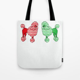 Christmas Poodles Tote Bag