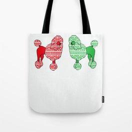 Christmas Poodles Tote Bag