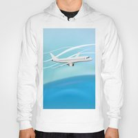 airplane Hoodies featuring Airplane by salamandra7