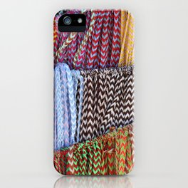 Color threads iPhone Case
