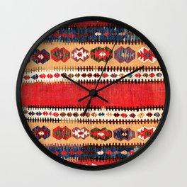 Obruk  Antique Konya Turkish Kilim Print Wall Clock