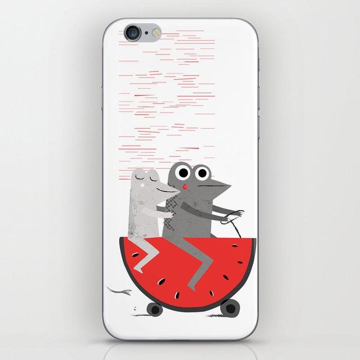 Fun with frogs iPhone Skin
