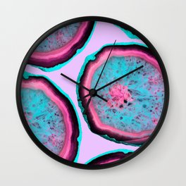 Fluo Agates Wall Clock