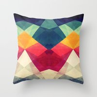 Throw Pillows featuring Meet me halfway by VessDSign