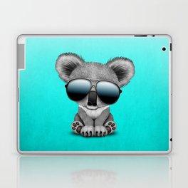 Cute Baby Koala Bear Wearing Sunglasses Laptop & iPad Skin