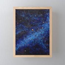 Space universe galaxy I am Here awakening Framed Mini Art Print