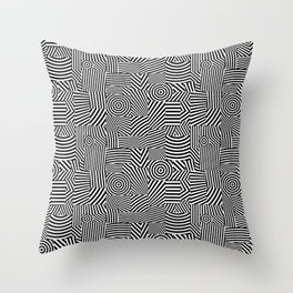 Black and White Dazzle Throw Pillow