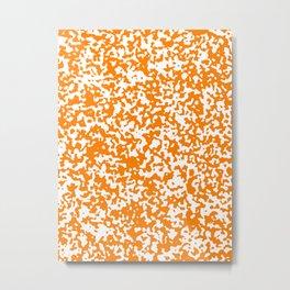 Small Spots - White and Orange Metal Print