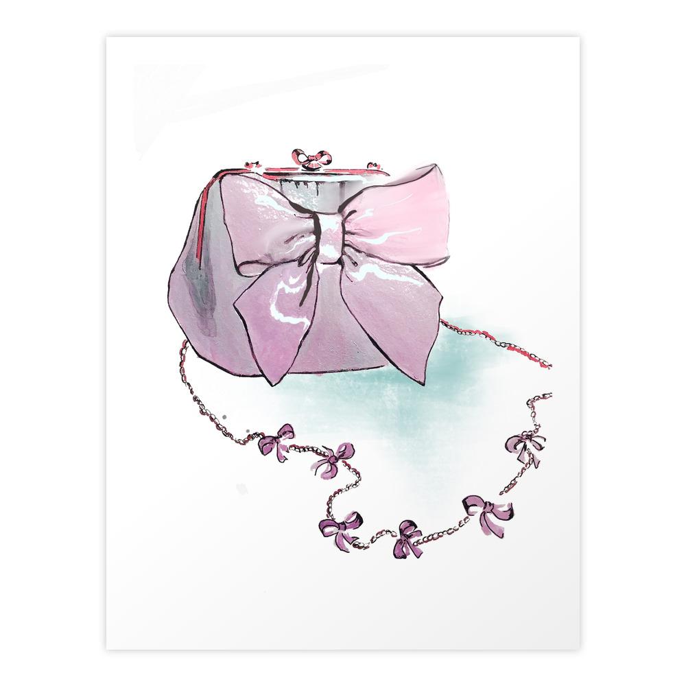 Pink Purse Art Print by gracefulbrush (PRN8974954) photo