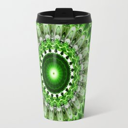 Mandala shining green Travel Mug