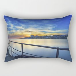 Smooth river. Rectangular Pillow