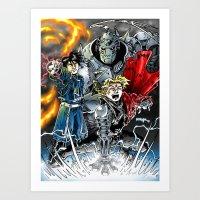 fullmetal Art Prints featuring Fullmetal Alchemist by MarioRojas