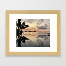 Sunset over Water Framed Art Print