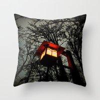 lantern Throw Pillows featuring Lantern by A Dostert
