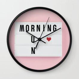 Motivation box Wall Clock