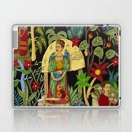 Frida's Garden, Casa Azul Lush Greenery Frida Kahlo Landscape Painting Laptop & iPad Skin