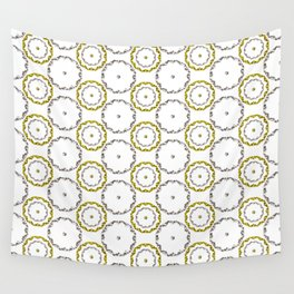 Gold and Silver Rings Polka Dot Pattern Wall Tapestry