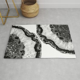 Yin Yang Agate Glitter Glam #3 #gem #decor #art #society6 Rug