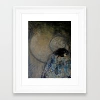 imagerybydianna Framed Art Prints featuring dreaming in tennyson's tower by Imagery by dianna