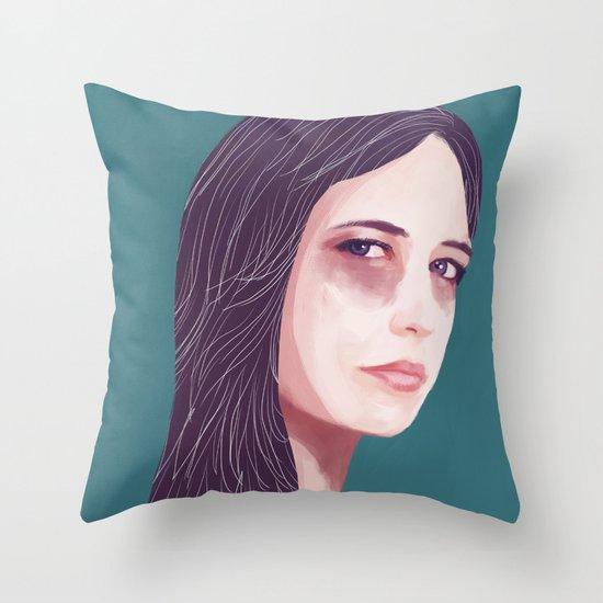 Eva Green Throw Pillow