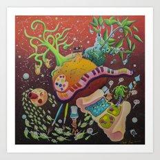 Inspired planet Art Print
