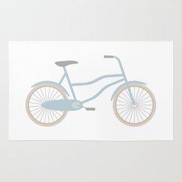 Blue Retro Bicycle Rug